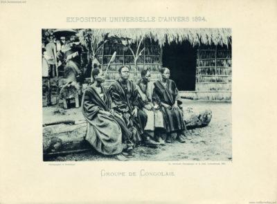 1894 Exposition Universelle Anvers - Groupe de Congolais