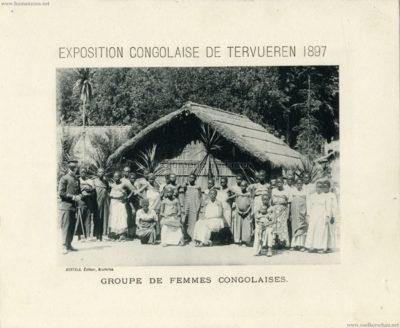 1897 Exposition Congolaise de Tervueren - Groupe de Femmes Congolaises