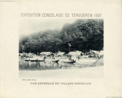 1897 Exposition Congolaise de Tervueren - Vue generale du Village Congolais