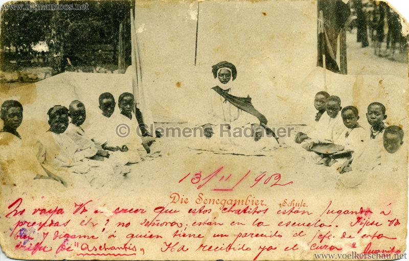 1898 Die Senegambier - Die Schule SPANIEN