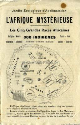 1910 L'Afrique Mystérieuse - Jardin d'Acclimatation PROGRAMM 1