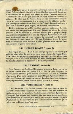 1910 L'Afrique Mystérieuse - Jardin d'Acclimatation PROGRAMM 4