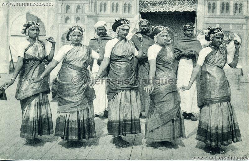 1910:1911:1912 Gustav Hagenbeck's grösste indische Völkerschau der Welt - 5 Tänzerinnen VS