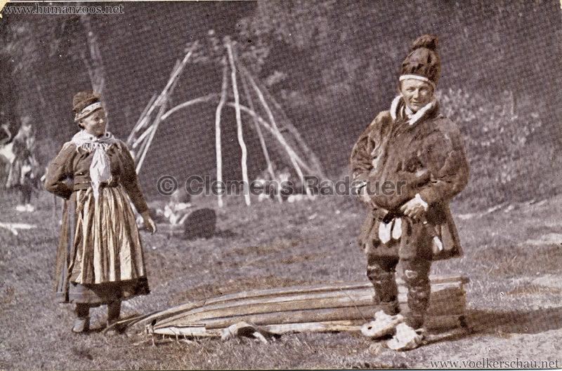 1911 Ausstellung Nordland, Berlin-Halensee - Ordningsman von Norbotten Nil Nilsn Skum und Frau VS