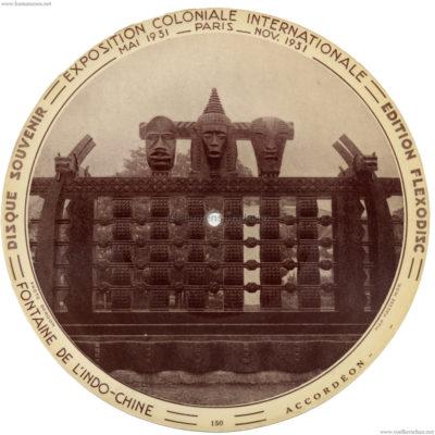 1931 Exposition Coloniale Flexodisc 150