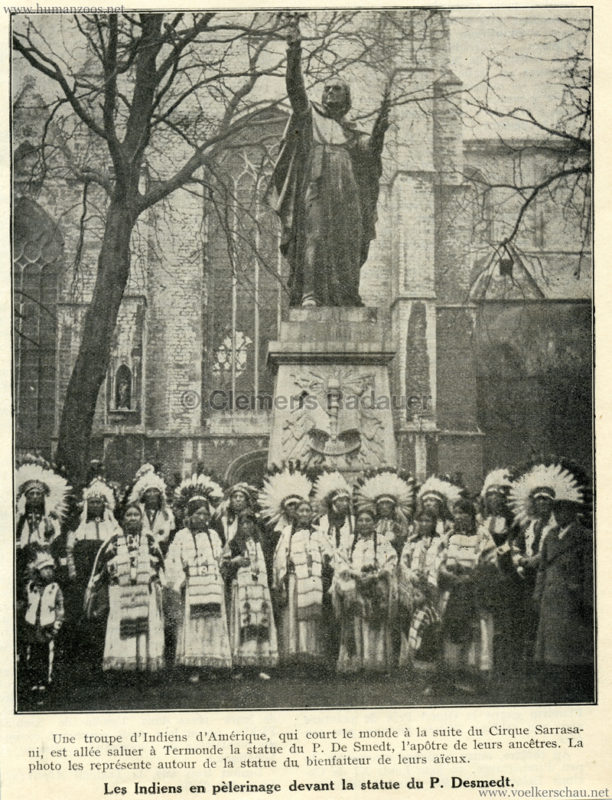 1932 Zirkus Sarrasani Termonde - Troupe d'Indiens d'Amerique