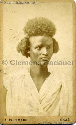 1880 Nubische Menschen und Thier-Karawane CDV 1