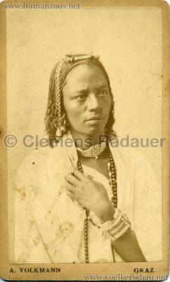 1880 Nubische Menschen und Thier-Karawane CDV 2