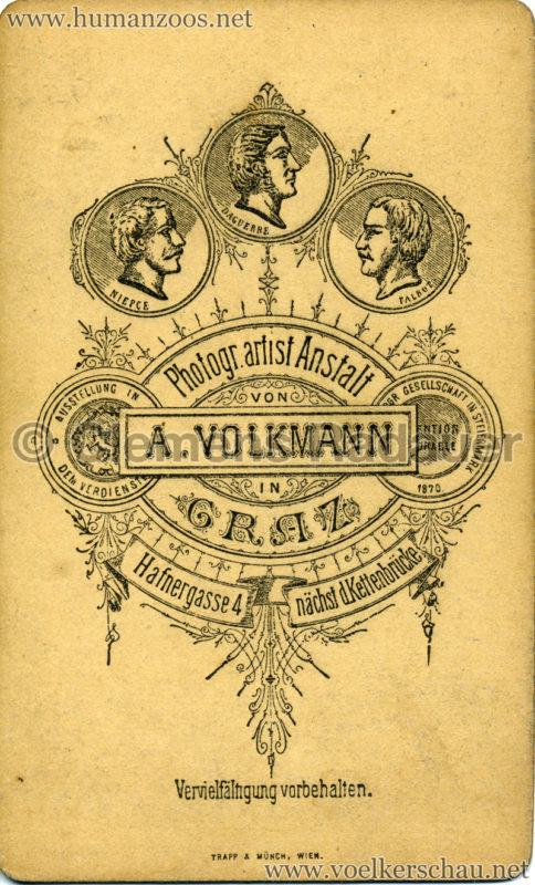 1880 Nubische Menschen und Thier-Karawane CDV RS