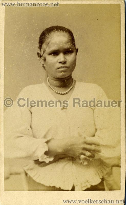 1884:1885 Singhalesen der Hagenbeck'schen Ceylon-Expedition Hamburg 1