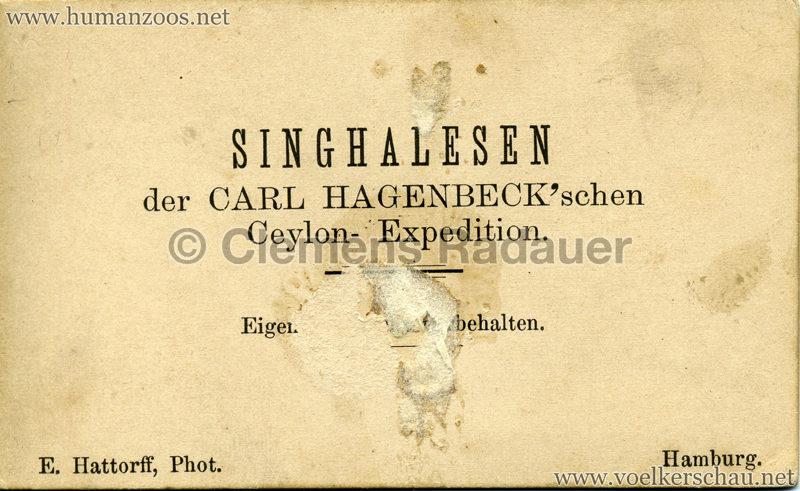 1884:1885 Singhalesen der Hagenbeck'schen Ceylon-Expedition Hamburg 2 RS