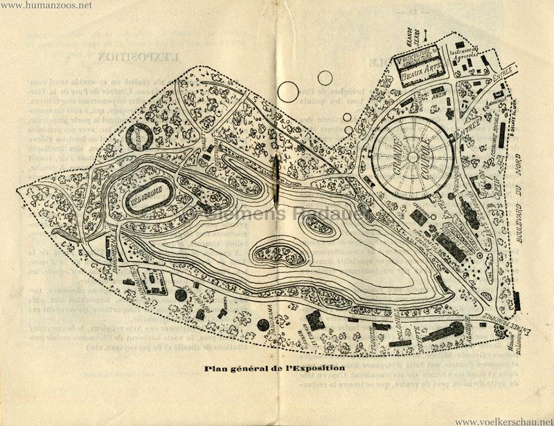 1894 Exposition Coloniale Lyon KARTE