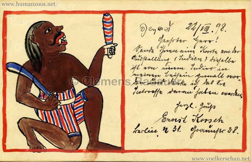 1898 Carl Hagenbeck's Indien - Dämon gel. 23.03.1898 VS