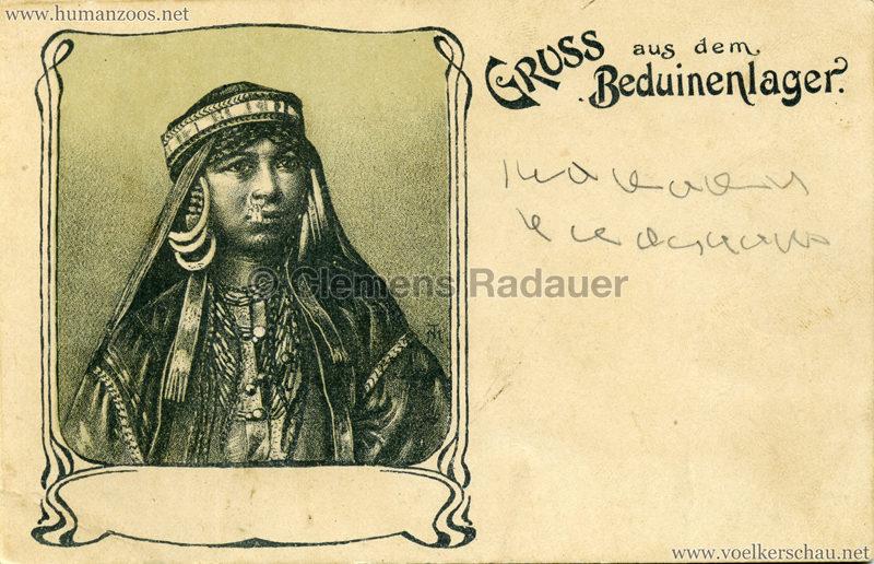 1900 Gruss aus dem Beduinenlager 6