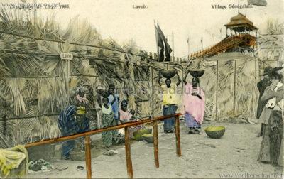 1905 Exposition de Liège - Village Sénégalais - Lavoir bunt