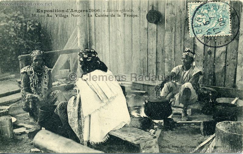 1906 Exposition d'Angers - 35. Au Village Noir - La Cuisine de la Troupe