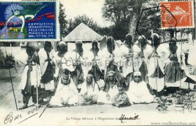 1908 Exposition internationale de l'Electricite Marseille - Le Village Africain