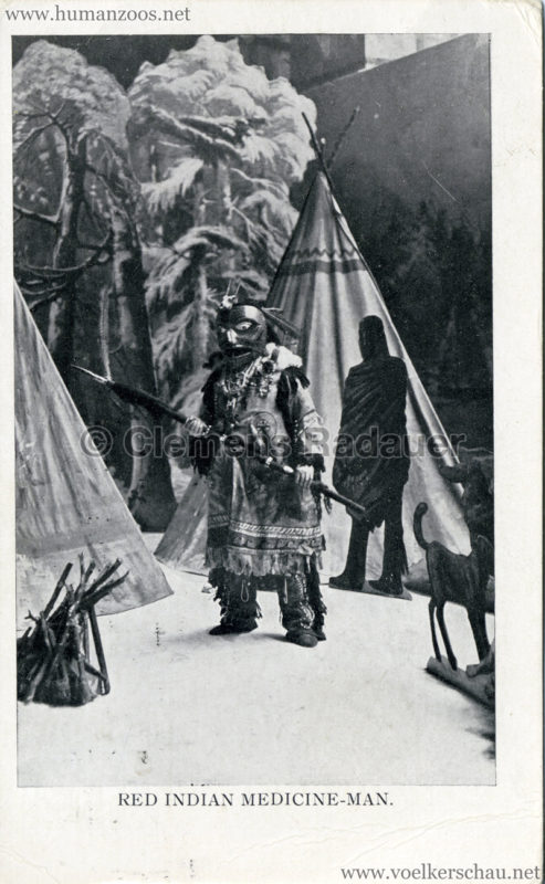 1909 Africa & The East Exhibition - Red Indian Medicine Man VS