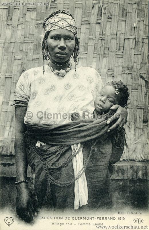 1910 Exposition de Clermont-Ferrand 69. Village Noir - Femme Laobe
