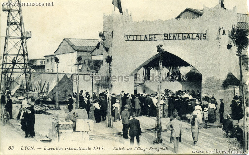 1914 Exposition Coloniale Lyon - Entree du Village Sénégalais