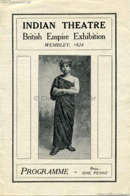 1924 British Empire Exhibition - Indian Theatre PROGRAMM 1