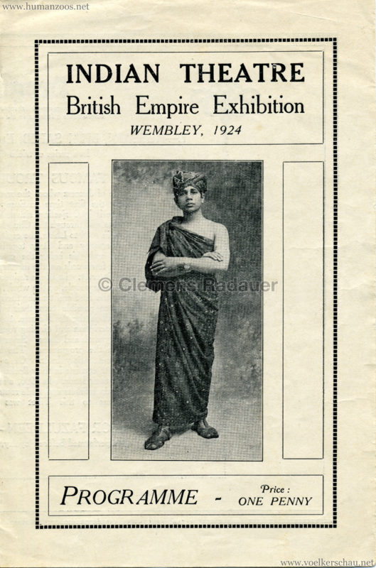 1924 British Empire Exhibition - Indian Theatre PROGRAMM 1