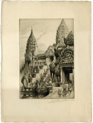 1931 Exposition Coloniale Internationale Paris - Temple d'Angkor Vat CHARLES PINET