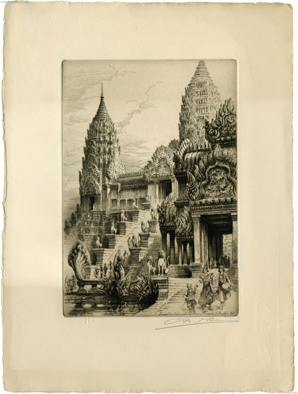 1931 Exposition Coloniale Internationale Paris - Temple d'Angkor Vat CHARLES PINET