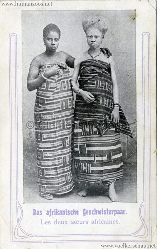 Das afrikanische Geschwisterpaar - Les deux soeurs africaines (Negresse Blanche)