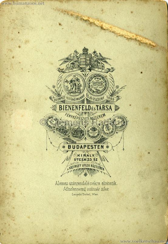 1888 Beduinen Budapest (Bienenfeld es Tarsa) CDV RS