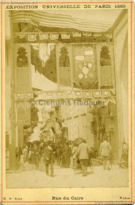 1889 Exposition Universelle Paris - Rue du Caire CDV