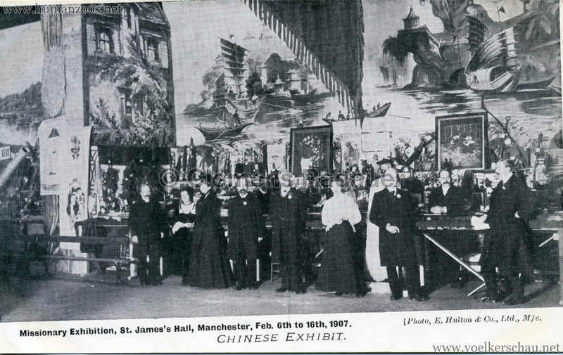 1907.02 Missionary Exhibition St James's Hall Manchester - Chinese Exhibit