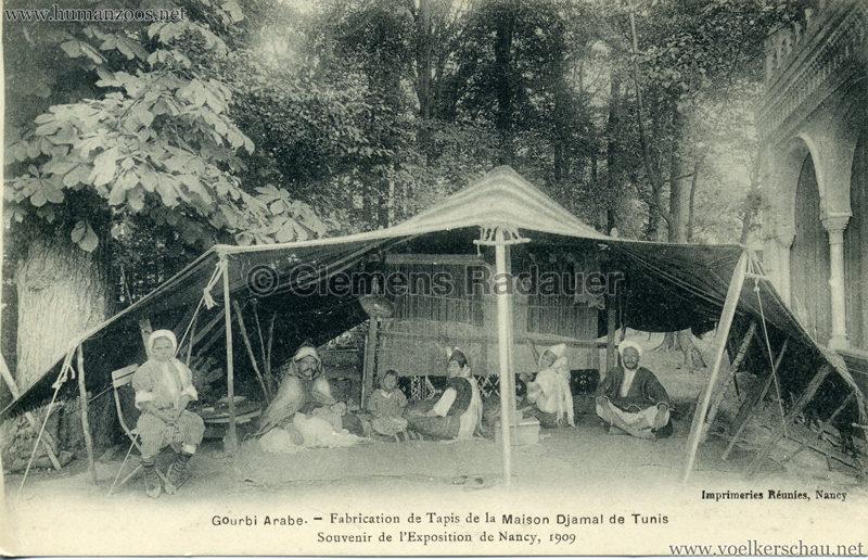 1909 l'Exposition de Nancy - Gourbi Arabe - Fabrication de Tapis de la Maison Djamal de Tunis 3