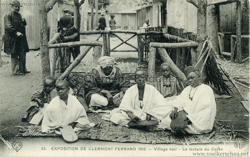 1910 Exposition de Clermont-Ferrand 65. Village Noir - La lecture du Coran