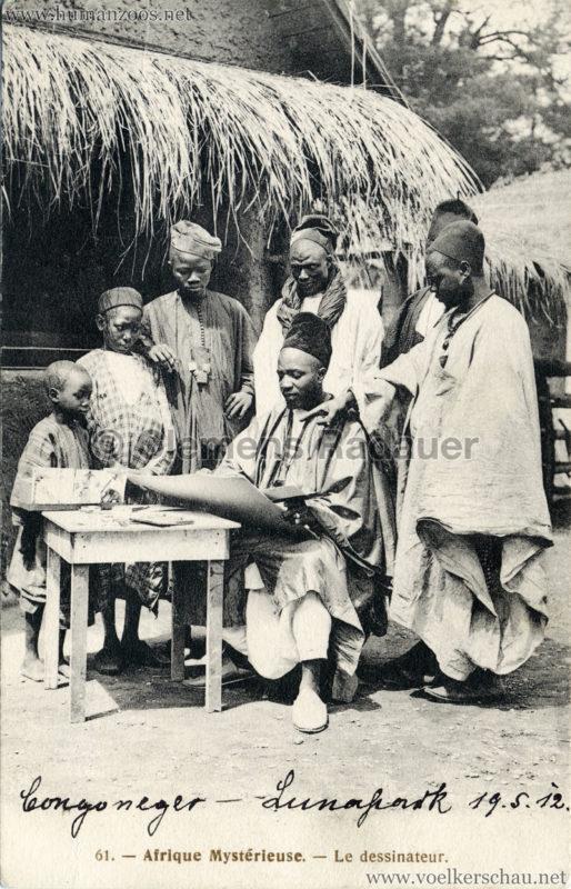 1912 Congoneger Lunapark - l'Afrique Mysterieuse - Le dessinateur
