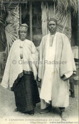 1914 Exposition Coloniale Lyon - Jardin & Village Sénégalais 9. Le Chef et sa Femme