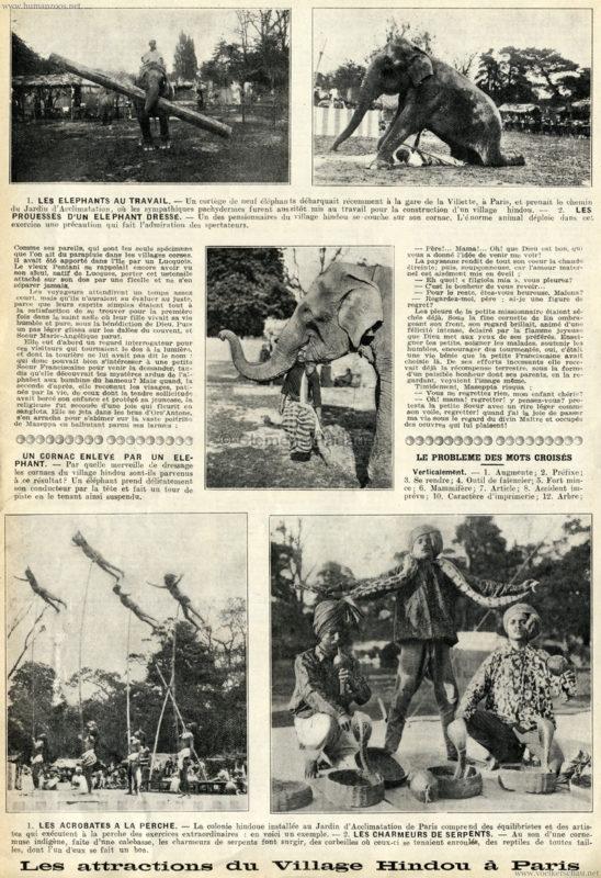 1926 Les attractions du Village Hindou a Paris