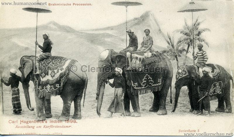 1898 Carl Hagenbeck's Indien - Brahminische Procession Serienkarte 3