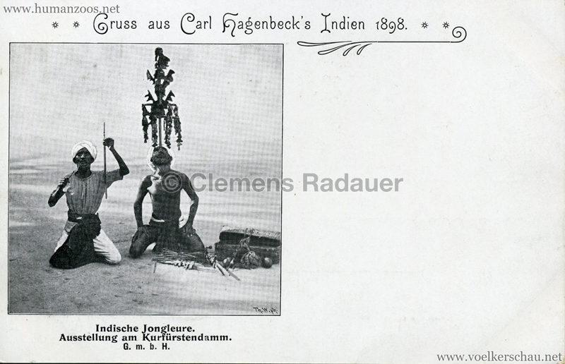 1898 Carl Hagenbeck's Indien - Indische Jongleure