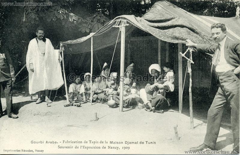 1909 l'Exposition de Nancy - Gourbi Arabe - Fabrication de Tapis de la Maison Djamal de Tunis 4