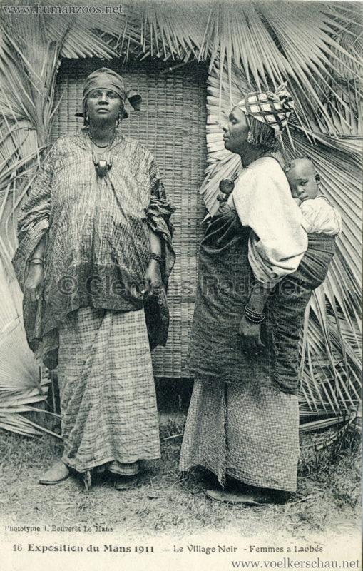1911 Exposition du Mans - Le Village Noir - 16. Femmes a Laobés 2