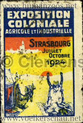1924 Exposition Coloniale Strasbourg STAMP
