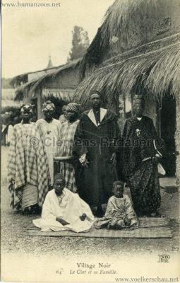 Village Noir 64. Le chef et sa famille