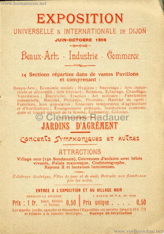 1898 Exposition Internationale de Dijon - Les Soudanais Village Negre 2