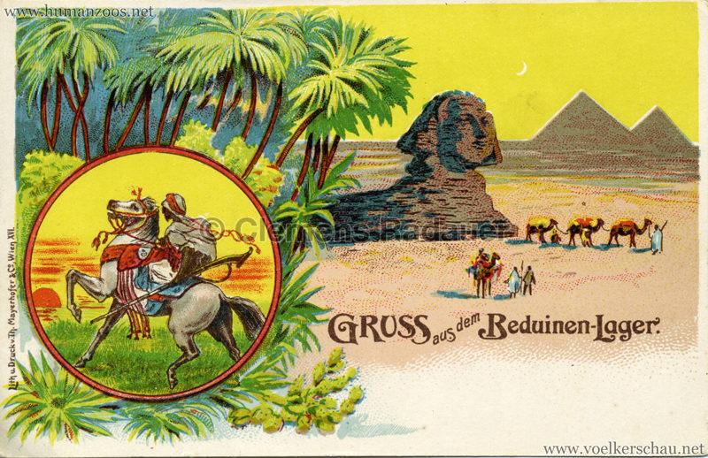 1900 Gruss aus dem Beduinenlager 7