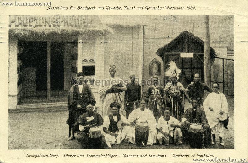 1909 Ausstellung für Handwerk u. Gewerbe, Kunst und Gartenbau Wiesbaden - Tänzer und Trommelschläger