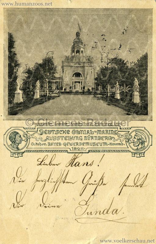 1898 Deutsche Colonial- u. Marineausstellung Nürnberg