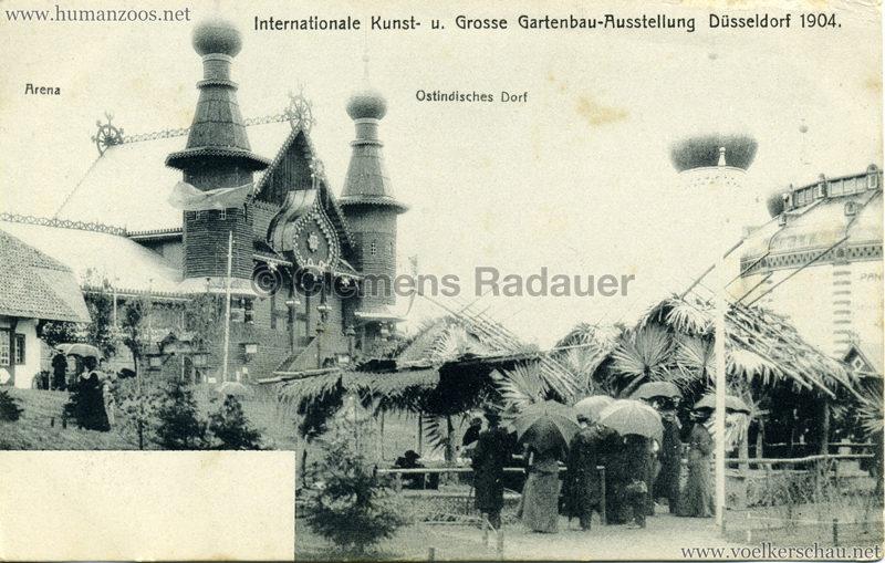 1904 Internationale Kunst- u. Gartenbau-Ausstellung Düsseldorf - Ostindisches Dorf - Arena