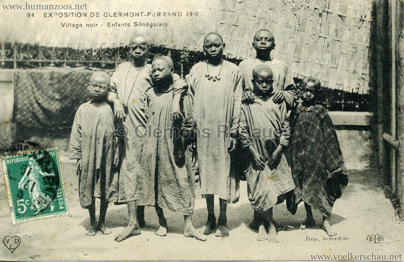 1910 Exposition de Clermont-Ferrand 65. Village Noir - 84. Enfants Sénégalais