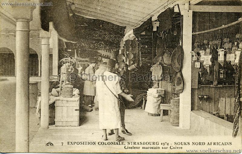 1924 Exposition Coloniale Strasbourg - Souks Nord Africains - 7. Ciseleur Marocain sur cuivre